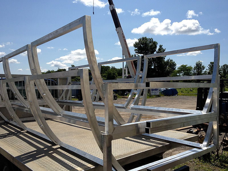 Steel Frame Work : Hansen metal fabrication aluminum